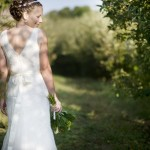 Bride in Orchard - Sunny Studios